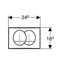 Przycisk spłukujący Geberit Delta 20 chrom błyszczący (UP100) 115.100.21.1