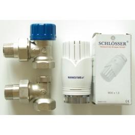 Zestaw termostatyczny kątowy Schlosser Brugman ½